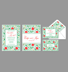 Wedding invite envelope rsvp holiday card vector