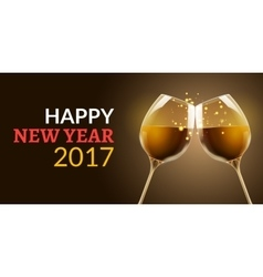 New year eve 2017 holiday of two vector