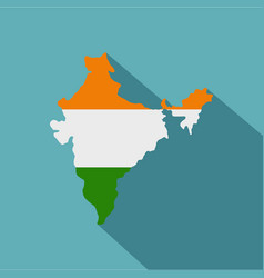 Indian map icon flat style vector