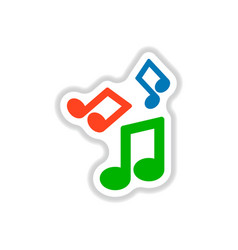 color label design collection of music note vector image