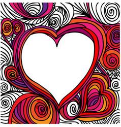 Ornate heart sketch vector