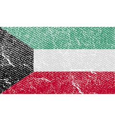 Flag of kuwait with old texture vector