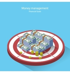 Money management financial goal flat style vector