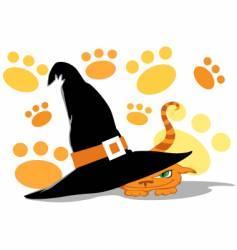 halloween cat vector image
