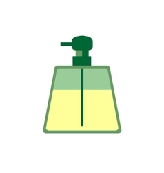 Liquid soap spray flat icon vector