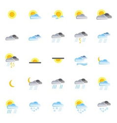 Nature and weather icons vector
