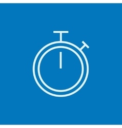 Stopwatch line icon vector