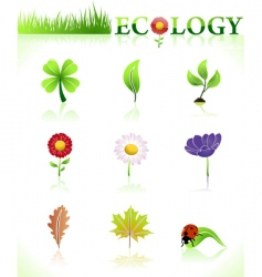 Ecology symbols natural vector