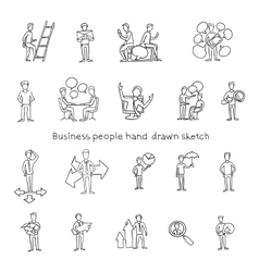 Office people hand drawn vector