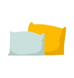 Pillow isolated vector