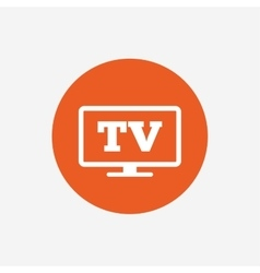 Widescreen tv sign icon television set symbol vector