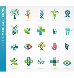 medical healthcare and pharmacy icons vector image
