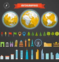 Infographic elements template different vector