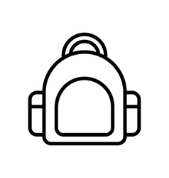 Bag Outline Icon vector image vector image