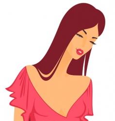 beautiful girl vector image vector image