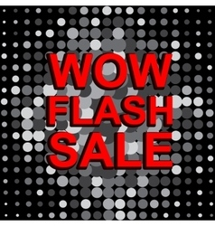 Big sale poster with wow flash sale text vector