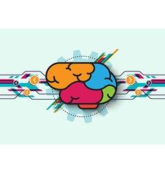 Brain wave concept vector