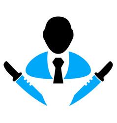 Butchery boss icon vector