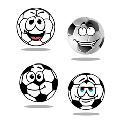 Cartoon soccer or football characters vector image vector image