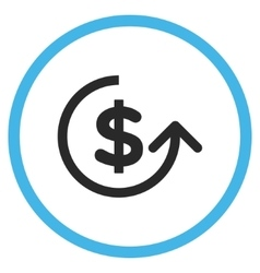 Chargeback flat rounded icon vector