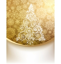 Christmas tree greeting card eps 8 vector