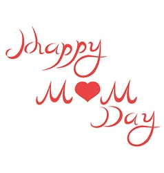 happy mothers day letters vector image vector image