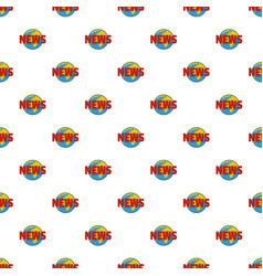 Hot news pattern seamless vector