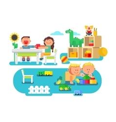Kindergarten flat design vector