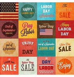 Labor day icon set vector