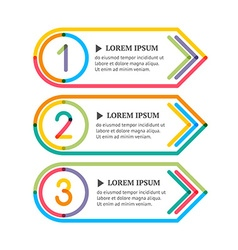 Modern option banners colorful lines and numbers vector