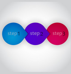 Next step arrow circles design vector