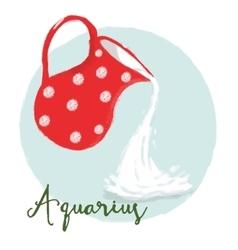Nice aquarius horoscope sign vector