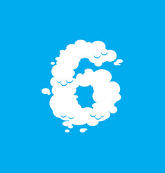 Number 6 cloud font symbol white alphabet sign vector