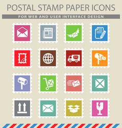 Post service icon set vector