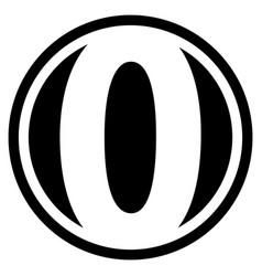 Round o logo vector