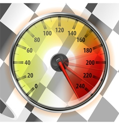 Speedometer with flag vector