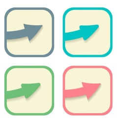 stickers with arrows set vector image vector image