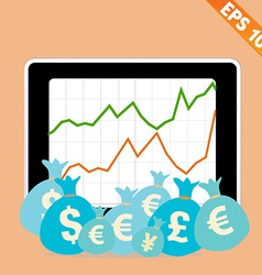 Stock chart with financial money - - eps10 vector