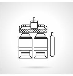 Storage for liquid raw flat line icon vector