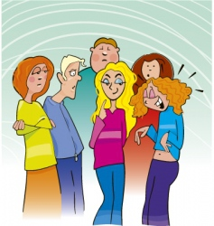 teens group vector image