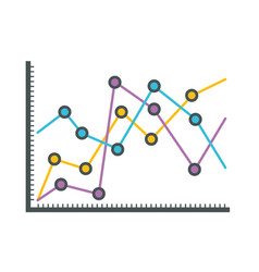 white background with statistical graphs linear vector image vector image