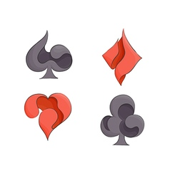 Set of playing card suits vector image
