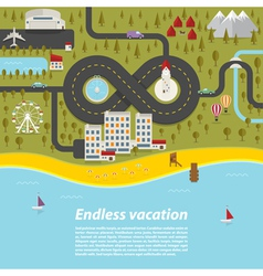 Endless vacation vector image