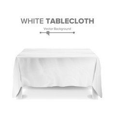 White table with tablecloth empty 3d vector