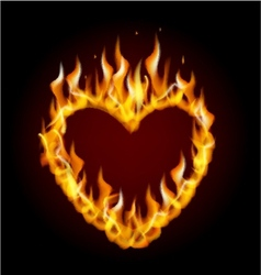 Burning heart vector