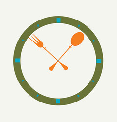 Fork and spoon as a clock vector
