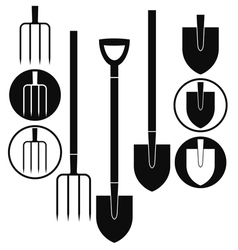 Shovel pitchfork vector