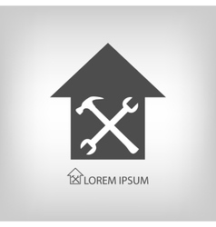 House repair symbol vector