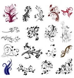 Plant patterns vector
