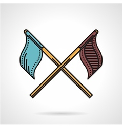 Paintball teams flags icon vector
